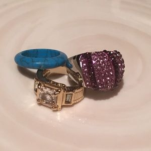 Jewelry - Set of 3 rings Size 6.5